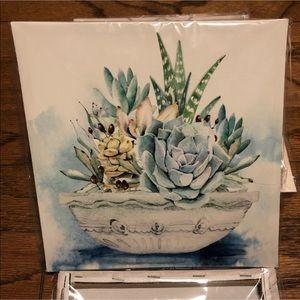 Other - Succulent Frameless Canvas Art 8.5 x 8.5